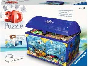 Puzzle 3D Truhla Podvodní svět 216 dílků