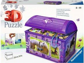 Puzzle  3D Truhla Koně 216 dílků