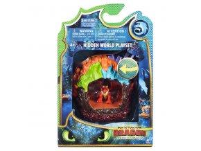 draci 3 svitici draci jeskyne s figurkou h049634 oranzovo fialova hookfang