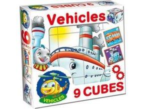 Skládací obrázkové kostky Vehicles