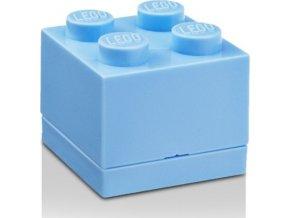LEGO Mini box 45x45x42 světle modrý