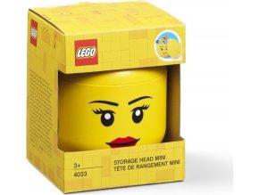 LEGO Box hlava dívka (holka) velikost mini