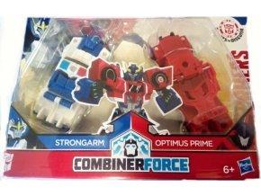 Transformers RID Kombinátor Strongarm a Optimus Prime červený
