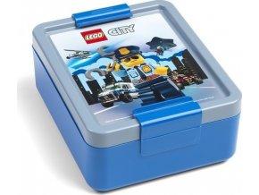 LEGO Svačinový box City modrý