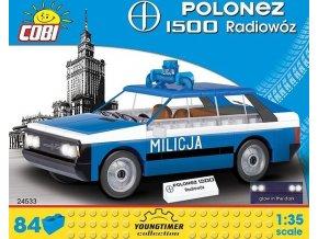 Cobi 24533 Youngtimer – FSO Polonez 1500 Milicja Rádiovůz