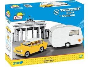 Cobi 24590 Youngtimer – TRABANT 601 DDR s karavanem COBI