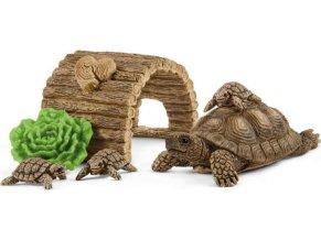 Schleich 42506 Želví  rodinka s domečkem