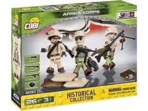 Cobi 2034 SMALL ARMY – 3 figurky s doplňky Afrika Korps