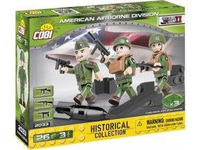 Cobi 2033 SMALL ARMY – 3 figurky s doplňky Americká výsadková divize