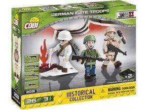 Cobi 2031 SMALL ARMY – 3 figurky s doplňky Německá armáda
