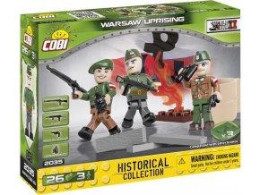 Cobi 2035 SMALL ARMY – 3 figurky s doplňky Varšavské povstání
