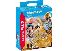 PLAYMOBIL 70302 Gladiátor se stojanem na zbraně