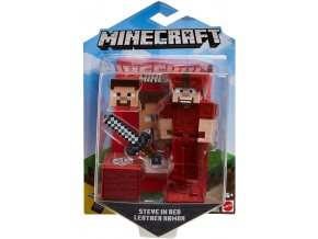 Minecraft Earth figurka Steve in red leather armor 1