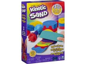 Kinetic Sand Kinetický písek duhová hrací sada 383g