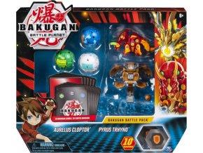 Bakugan Battle Pack Aurelus Cloptor & Pyrus Trhyno