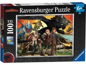 Ravensburger 10918 Puzzle Jak vycvičit Draka - Dračí přátelé XXL 100 dílků