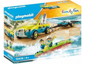 PLAYMOBIL 70436 Plážové auto s přívěsem pro kánoi