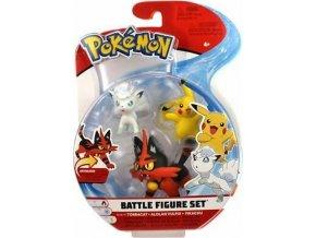 Pokémon Set bojových figurek Torracat & Alolan Vulpix & Pikachu