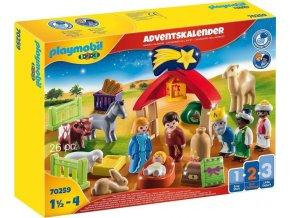 Playmobil 70259 Adventní kalendář Vánoční betlém 1.2.3
