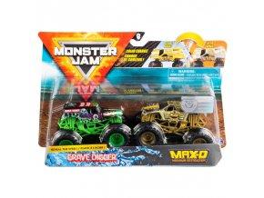 Spin Master Monster Jam sberatelska auta dvojbaleni Grave Digger Max D Maximum Destruction 1