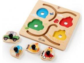 Baby Einstein Hračka dřevěná puzzle Paths to Adventure HAPE 12m+