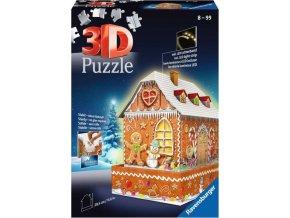 Ravensburger 11237 Puzzle 3D Perníková chaloupka svítící 216 dílků