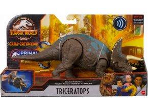 Jurassic World Mattel Primal Attack Camp Cretaceous Toys Triceratops 01