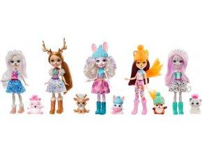 Enchantimals 5ks zimní panenka se zvířátkem