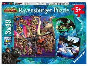 puzzle jak vycvicit draka 3 3x49 dilku