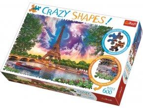 Puzzle Crazy Shapes Nebe nad Paříží 600 dílků