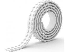 Lepící páska kostičky bílá