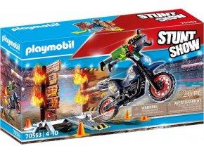 PLAYMOBIL 70553 StuntShow Motocykl a hořící stěna