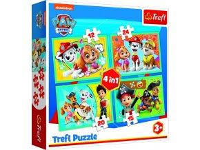Puzzle Šťastný tým Tlapková Patrola 4v1