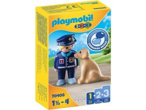 PLAYMOBIL 70408 Policista se psem (1.2.3)