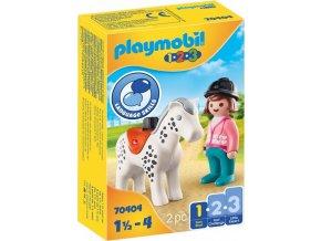PLAYMOBIL 70404 Žokejka s koněm (1.2.3)