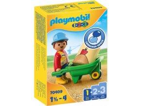 PLAYMOBIL 70409 Dělník s kolečkem (1.2.3)