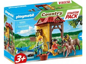 PLAYMOBIL 70501 Starter Pack Koňská stáj