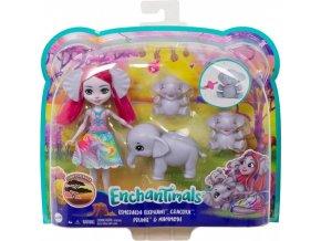 EnchanTimals Rodinka Esmeralda se slony