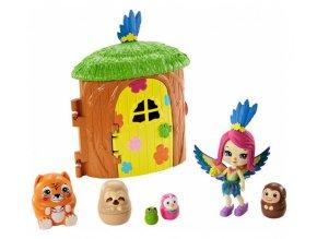 ENCHANTIMALS Tajné útočiště nejlepších přátel Peeki Parrot Tree Hut