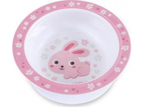 CANPOL Melaminová miska zajíček s přísavkou Bunny & Company 270 ml ružová