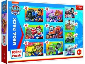 Puzzle 10v1 Tlapková patrola tým