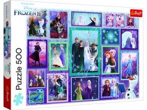 Puzzle Kouzelná galerie 500 dílků Ledové království 2