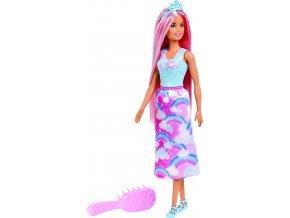 Barbie dlouhovláska s růžovými vlasy