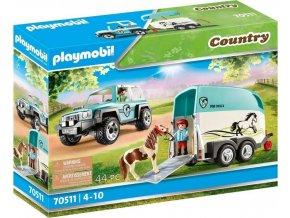 PLAYMOBIL 70511 SUV s přívěsem pro poníky