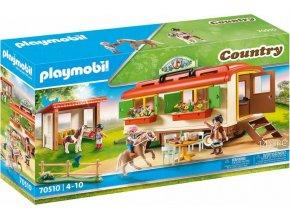 PLAYMOBIL 70510 Pony Kemp s maringotkou