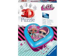 Puzzle 3D Srdce L.O.L. panenky 54 dílků