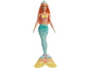 Barbie Dreamtopia Mořská víla oranžové vlasy