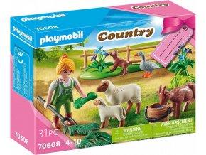 PLAYMOBIL 70608 Dárkový set: Farmářka se zvířaty