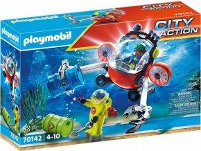PLAYMOBIL 70142 Ponorka a nebezpečný odpad