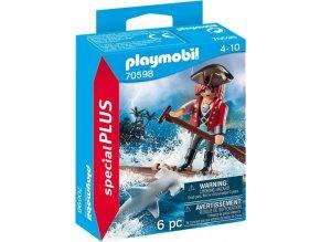 PLAYMOBIL 70598 Pirát na voru se žralokem kladivounem